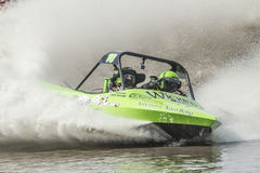 Sprint boat competitor on short course. Stock Image