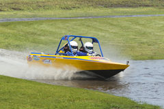 Sprint boat competitor on short course. Stock Photo