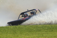 Sprint boat competitor on short course. Royalty Free Stock Photos