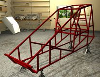 Sprint Car Frame Royalty Free Stock Images