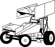 Sprint Car Outline Royalty Free Stock Photo