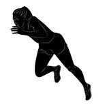 Sprint dell'uomo, illustrazione di vettore Immagini Stock