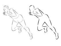 Sprint dell'uomo, illustrazione di vettore Fotografia Stock