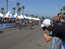 Sprint Finish 2013 Tour of California Royalty Free Stock Photography