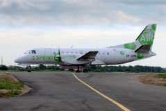 Sprint-Flugzeug Lizenzfreies Stockbild