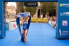 Sprint-Schale Triathlon Cremona IFU europäische Lizenzfreie Stockfotos