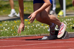 Sprint start. In track and field Royalty Free Stock Photos
