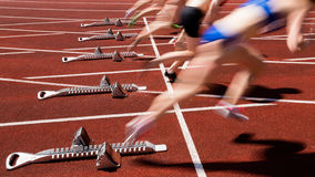 Sprint start in blurred motion Stock Photos