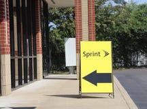 Sprint telekomunikacj sklepu przód Obrazy Royalty Free