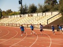 sprinta för barn Fotografering för Bildbyråer