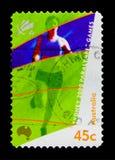 Sprintant, serie de Paralympics, vers 2000 Image stock