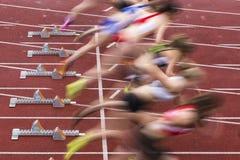 Sprinten Sie Anfang Stockfotos