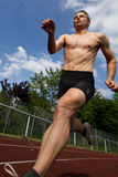 Sprinter. In track and field Royalty Free Stock Photography
