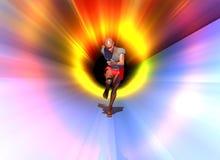 Sprinter in blur Royalty Free Stock Photos