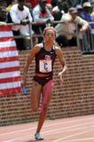 Sprinter de femelle d'Afro-américain Image stock