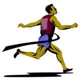 Sprinter finishing Royalty Free Stock Image