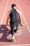 Sprinter leaving  on the running track. Royalty Free Stock Photography