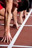 Sprinter man Stock Photo