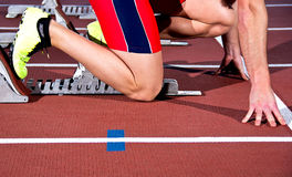 Sprinter man Royalty Free Stock Image