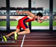 Sprinter man Royalty Free Stock Photo