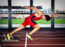 Sprinter man Royalty Free Stock Photography