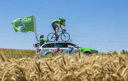 The Sprinter Skoda - Tour de France 2016. Saint-Quentin-Fallavier, France - July 16, 2016: The sprinter mascot of Skoda during the passing of Publicity Caravan Royalty Free Stock Photo