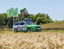 The Sprinter Skoda - Tour de France 2016. Saint-Quentin-Fallavier, France - July 16, 2016: The sprinter mascot of Skoda during the passing of Publicity Caravan Royalty Free Stock Images