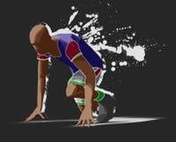 Sprinter. In action, sketch render Stock Images
