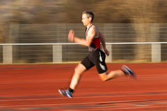 Sprinter in track and field Royalty Free Stock Photo