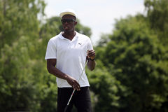 Sprinter Usain Bolt in Czech republic. Jamaica's sprinter Usain Bolt starts the golf tournament of celebrities in Slavkov u Brna, Czech Republic on 29th May 2011 Royalty Free Stock Photo
