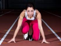 Sprinter woman Stock Photo