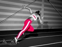 Sprinter woman Stock Image