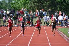 Sprinters féminins Photos libres de droits