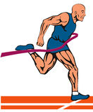 Sprintervollendenlack-läufer stock abbildung
