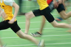Sprinting. Sprinters in track and field Royalty Free Stock Photography