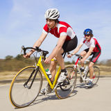 Sprinting cyclists Stock Image