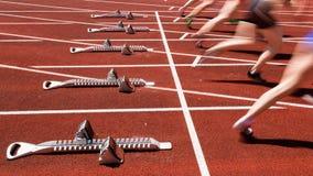 Sprinting nel movimento vago fotografia stock libera da diritti