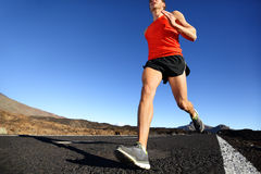 Sprinting running man - male runner training Royalty Free Stock Photography