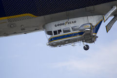 Spririt of GoodYear Blimp Close up Flying Stock Image