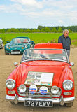 Sprite d'Austin Healey au rassemblement à Inverness. Photo stock