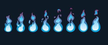 Sprite di animazione del fuoco Animazione per il gioco o il fumetto Fotografia Stock Libera da Diritti