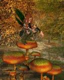 Sprite en un bosque del otoño - 2 del arbolado Fotos de archivo libres de regalías