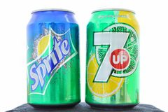 Sprite vs 7 Up Royalty Free Stock Photography