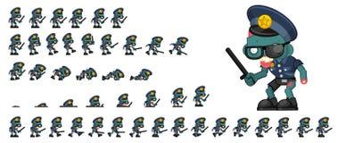 Sprites animados del carácter del zombi ilustración del vector