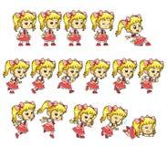 Sprites del juego de la muchacha del caramelo Fotografía de archivo libre de regalías