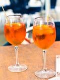 Spritz aperitif Arkivbild