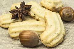 Spritz biscuits and star anise Stock Images