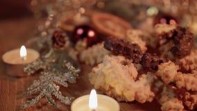Spritz ciastek Bożenarodzeniowych ciastka na dekorującym stole zbiory