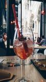 Spritz in Milan duomo view. Having a Spritz in Milan in front of Duomo of Milan Royalty Free Stock Photo