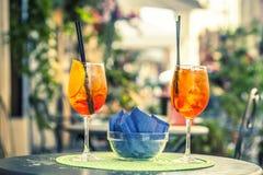 Spritz vidros de cocktail Imagem de Stock